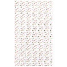 Romantic Pink Garden Watercolor Floral Tablecloth