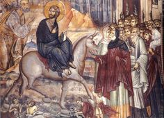 Icon of Palm Sunday - from Vatopedi monastery on Mt. Athos