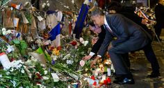 President Barack Obama paid his respects early Monday to the victims of the Nov. 13 Paris terror attacks. Upon arriving in the city, he made an unannounced stop at the Bataclan concert hall, where the majority of the 130 people slain that day were murdered while attending an Eagles of Death Metal show.