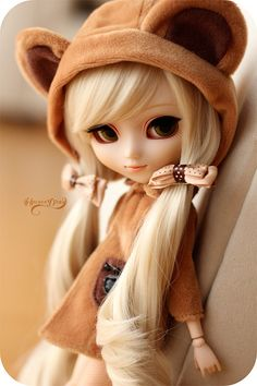 Pullip in a bear costume.asia for Pullip dolls and more! Find images and videos about cute, doll and bjd on We Heart It - the app to get lost in what you love.dolls kill platform shoes CLICK Visit link for more - Caring For Your Collectable Dolls. Anime Dolls, Blythe Dolls, Barbie Dolls, Pretty Dolls, Beautiful Dolls, Elisa Cavaletti, Cute Baby Dolls, Kawaii Doll, Realistic Dolls