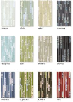 Love these (glass) backsplash tile colors.