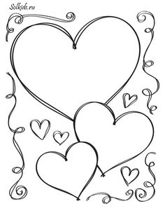 Hearts Valentine Coloring PagesSpring