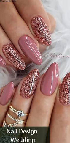 Nail Design Wedding sparkly nails great for valentines day w.- Nail Design Wedding sparkly nails great for valentines day with Beautiful Design with Pink color and Glitter Nails Picture Credit - Diy Wedding Nails, Wedding Nails Design, Glitter Wedding, Polish Wedding, Wedding Designs, Shiny Nails, Gel Nails, Nail Polish, Coffin Nails