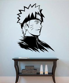 Wall room decor art vinyl sticker mural decal naruto for Decoration murale naruto
