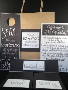 Thank You Notes For Wedding Gift Bags : ... Bags Note, Hotels Bags For Wedding Guest, Doorknobs Hangers, Gift Bags