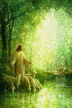 Pictures Of Jesus Christ, Jesus Christ Images, Jesus Art, Lord Is My Shepherd, The Good Shepherd, Jesus Shepherd, Feed My Sheep, Site Art, Christian Artwork