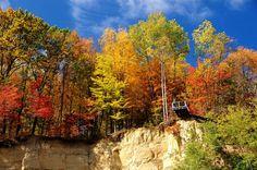 Overlook Deck @ Cascade Valley Metro Park/South, October 2012, photo by volunteer Joe Prekop