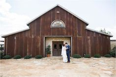Taking a moment to have a first dance all to themselves in front of the barn | Heritage House | Dripping Springs Wedding | By: ML Photo & Film | Mr and Mrs | Barn Wedding | Brunch Wedding |