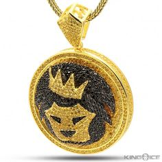 King of thee Jungle Hip Hop CZ Medallion Pendant Necklace | Snoop Lion