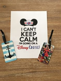 Luggage tags from Shutterfly make everything very personal Disney Reveal, Cant Keep Calm, Disney Cruise, Shutterfly, Tags, Mailing Labels