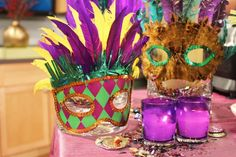 love the candle votives with the masks