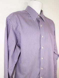 Brooks Brothers Dress Shirt Strip 100% Cotton Regular Fit Non Iron 16 1/2 X 35