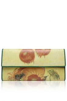 Flowers PU Leather Clutch Wallet