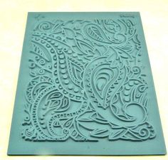 Lisa Pavelka Paisley Rubber Stamp for Clay and Ink