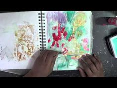 mixed media art journal process  -  Mystele