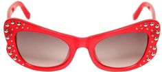 lunette de soleil rouge à strass, agent provocateur