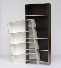 There was a crooked man and he had a crooked shelf.  = = = = = http://blog.freepricealerts.com/2011/08/17/61-unique-creative-furniture-designs/