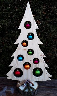 Your place to buy and sell all things handmade Weihnachtsbaum Holzdeko LED Advent Weihnachtsdeko Baum Wooden Christmas Crafts, Wooden Christmas Tree Decorations, Pallet Christmas Tree, Xmas Crafts, Outdoor Christmas, Christmas Art, Christmas Projects, Christmas Wreaths, Navidad Simple