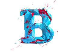 http://www.behance.net/gallery/Low-poly-typography/10215141