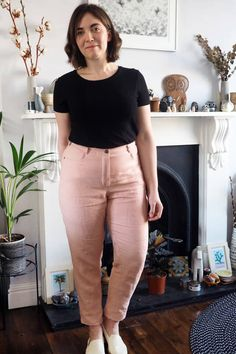 Pink jeans | What Katie Sews