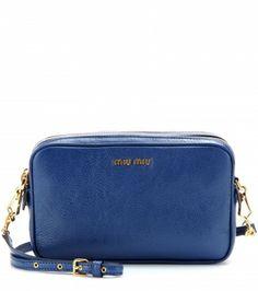 Miu Miu - Leather shoulder bag  - mytheresa.com us$690.00