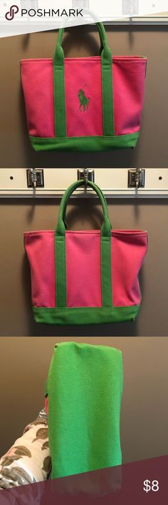Ralph Lauren small tote bag Pink and green Ralph Lauren tote bag. Great  condition. 4c0e811fc5