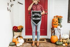 Welcome All the Witches This Halloween with this Felt Banner DIY Project — Apartment Therapy Tutorials