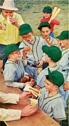 Vintage Baseball -- Little League Toothpaste Ad Gleem Magazine Wall Art or Collectible Magazine Wall Art, Oscar Mayer, Green Hats, Girl Standing, Norman Rockwell, Old Ads, Batgirl, Back In The Day, Vintage Ads