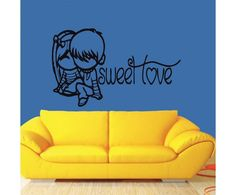 Sweet Love wall sticker by meSleep for the #cute #romantic souls in your #home! :) Check out this cool #art #wall #sticker on http://www.makenlive.com/products/9459/walls-and-paints/wall-stickers/Sweet%20Love