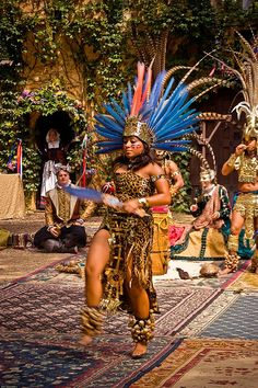 Aztec Costumes | Aztec Dancer In Ceremonial Costume 3 | Flickr - Photo Sharing!