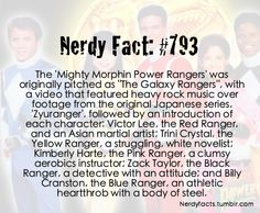 Nerdy Facts #793: Power Rangers