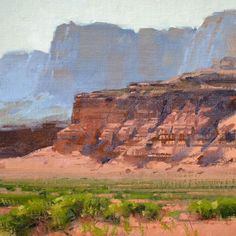 """""""Layers"""" 12x12 in   30x30 cm. oil , painted on location, Vermilion Cliffs, northern Arizona."""