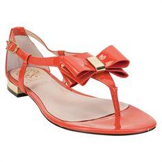 Vince Camuto Harmoni Patent Bow Sandal #VonMaur #Coral #BowSandals