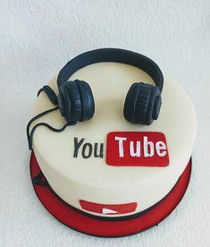 Teen Boy Birthday Cake, 15th Birthday Cakes, Birthday Cakes For Teens, Teen Boy Cakes, Cakes For Boys, Birth Cakes, Cake Youtube, Youtube Party, Anna Cake