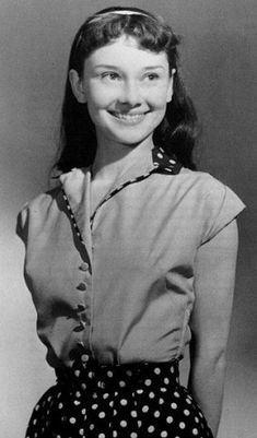 Rare photo of Audrey Hepburn in youth