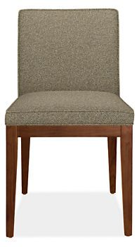 Ansel dining chairs are modern dining chairs with upholstered chair seats and contemporary chair style.
