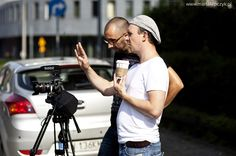 Piotr Łukaszczyk and Adam Konarski #film #movie #series #backstage #behindthe scenes