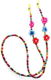 porta-gafas peques, realizado con fimo y turquesa Bead Crafts, Jewelry Crafts, Beaded Jewelry, Beaded Necklace, Eyeglass Holder, Lanyards, Eye Glasses, Friendship Bracelets, Pearls