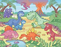 Bring nursery walls to life with the precious Baby Dino World Mural that fills your child's room with lovable excitement. This mural assembles to x Contains 12 panels Paste not included Printed on Vinyl Coated Paper Baby Wall Decor, Cartoon Dinosaur, Dinosaur Party, Dinosaur Nursery, Ligne Claire, Baby Dinosaurs, Photo Wall Collage, Of Wallpaper, Wallpaper Patterns