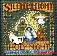 Mill Hill Beads Buttons Counted #crossstitch  SILENT NIGHT #needlecraft #DIY…