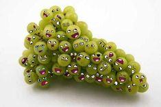 grapes faces