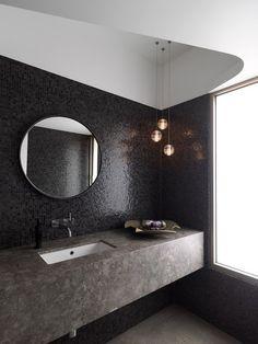 okrągłe lustro // round mirror - Apetyczne Wnętrze blog | wnętrza | design