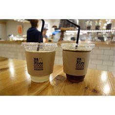 マンゴーラッシーとアイスコーヒーコーヒーはニカラグア エンバハーダのハンドドリップ(-)/ #meallog #food #foodporn
