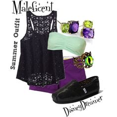"""Maleficent - Summer outfit"" by disneydreamer1 on Polyvore"
