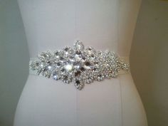 Weißer Transparent Gürtel Hochzeitskleid belt Strass Perlen Kristall Schärpe