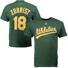 Ben Zobrist Oakland Athletics Majestic Official Name and Number T-Shirt - Green - $16.99