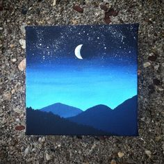 Night Sky Painting by PaintedWilderness on Etsy