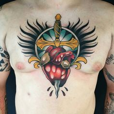 Dagger Heart by @_alvarito_tattoo at Malibu Tattoo in Barcelona Spain. #_alvarito_tattoo #alvaritotattoo #dagger #heart #barcelona #spain #malibutattoositges #malibutattoo #tattoo #tattoos #tattoosnob