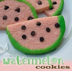 Watermelon shaped sugar cookie recipe