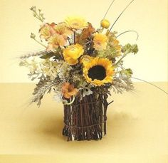 Country/rustic wedding centerpiece